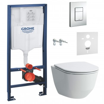 GROHE Комплект инсталляция RAPID SL 38772001 4в1+унитаз LAUFEN PRO Rimless H8669570000001+ сидение SoftClose Slim