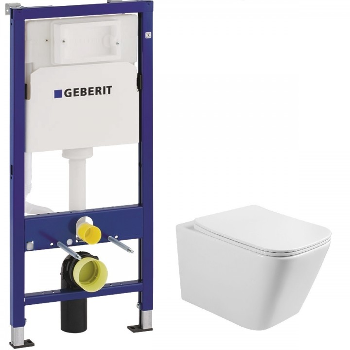 Инсталляция GEBERIT DUOFIX для унитаза 3в1 458.103.00.1+ Volle Libra S 13-41-160S