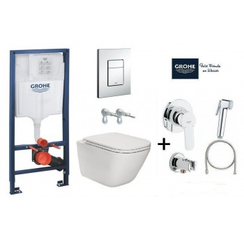 GROHE Комплект инсталляция RAPID SL 38772001 4в1+унитаз ROCA GAP Clean Rim A34H470000