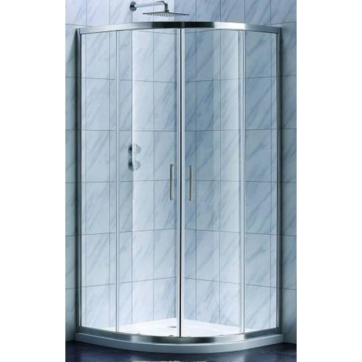 Душевая кабина Koller Pool Style 90х90 полукруг (chrome-clear) S90RC+поддон Grace 90х90 полукруг.+сифон A47CR-60