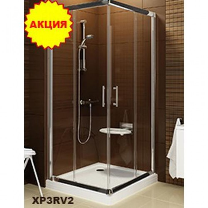 Душевая кабина   Ravak X-Point  XP3RV2-90 квадратная Transparent,  полированный алюминий