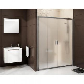 Душевая дверь 120 см RAVAK Blix тип BLDP4-120 (артикул 0YVG0100Z1) Transparent стекло профиль белый