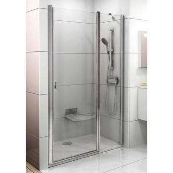 Душевая дверь 100 см RAVAK Chrome тип CSD2-100 (артикул 0QVAC100Z1) стекло Transparent профиль белый