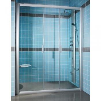 Душевая дверь 120 см RAVAK RAPIER Transparent стекло тип NRDP4-120 (артикул 0ONG0100Z1) профиль белый