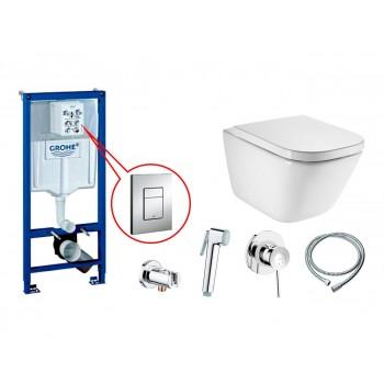 GROHE Комплект инсталляция RAPID SL 38772001 4в1+унитаз ROCA GAP Clean Rim A34H47C000 + 111048