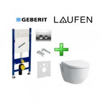 GEBERIT DUOFIX инсталляция для унитаза 4в1 458.121.21.1+Лауфен 8209640000001+slowclosing