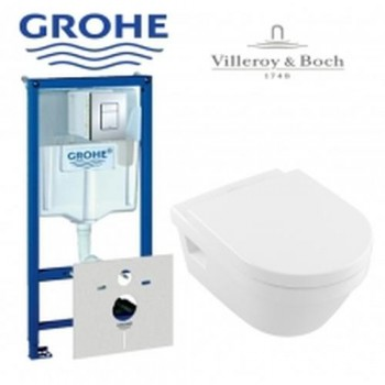 GROHE Инсталляция RAPID SL 38772001+унитаз V&B Omnia Architectura 5684HR01 с сидением soft-close