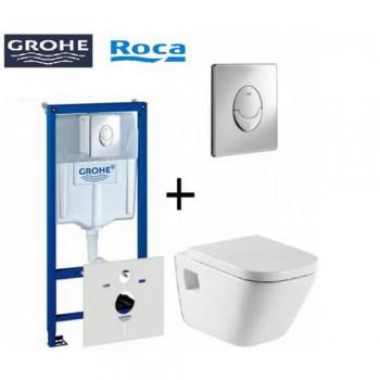 GROHE Комплект инсталляция RAPID SL 38721001 4в1+унитаз ROCA GAP с сидением