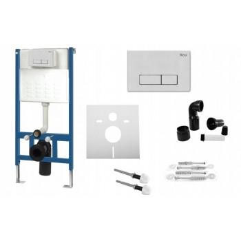 Инсталляционная система Rea для унитаза + кнопка H белая (REA-E0012)
