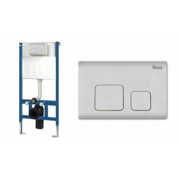 Инсталляционная система Rea для унитаза + кнопка F белая (REA-E0018)