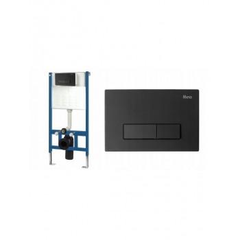 Инсталляционная система Rea для унитаза + кнопка H черная (REA-E3650)