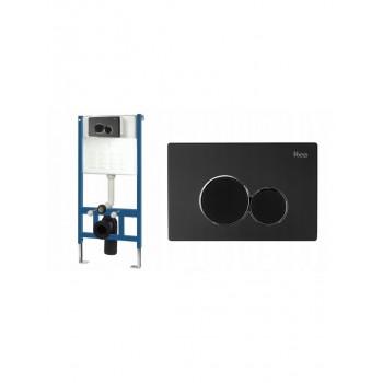 Инсталляционная система Rea для унитаза + кнопка Е черная (REA-E3651)
