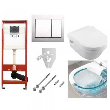 Комплект TECEbase kit 4в1 9400006 + унитаз Villeroy & Boch Omnia Architectura Directflush 5684HR01