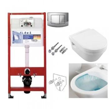 Комплект TECEbase kit 4в1 9400005 + унитаз Villeroy & Boch Omnia Architectura Directflush 5684HR01