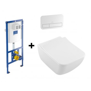 Комплект Подвесной Villeroy & Boch 4611R001 Venticello Direct Flush +инсталяция 92246100 ViConnect + ViConnect Е200 хром 92249061