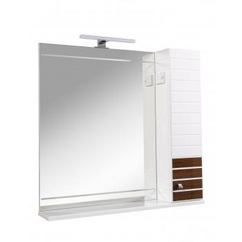 Зеркало AKVA RODOS Империал 85 см Венге с пеналом справа и подсветкой