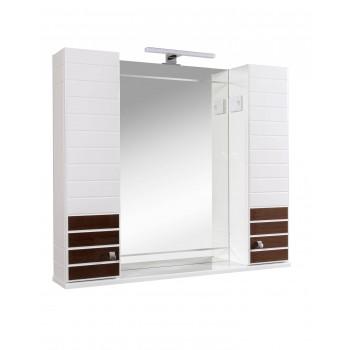 Зеркало AKVA RODOS Империал 95 см Венге с пеналами и подсветкой