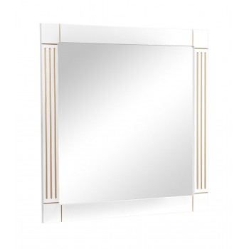Зеркало AKVA RODOS Роял 100 см белый патина золото