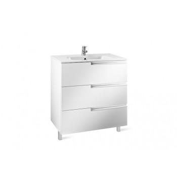 Комплект: A855839806 Roca VICTORIA-N тумба + умывальник 60см, цвет белый глянец