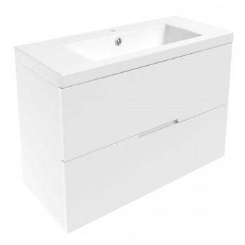 Volle AIVA 15-68-80 комплект мебели 80 см белый: тумба подвесная + умывальник накладной