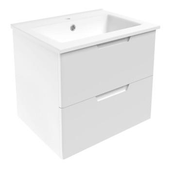 Volle LIBRA 15-41-61 комплект мебели 60см белый: тумба подвесная + умывальник накладной