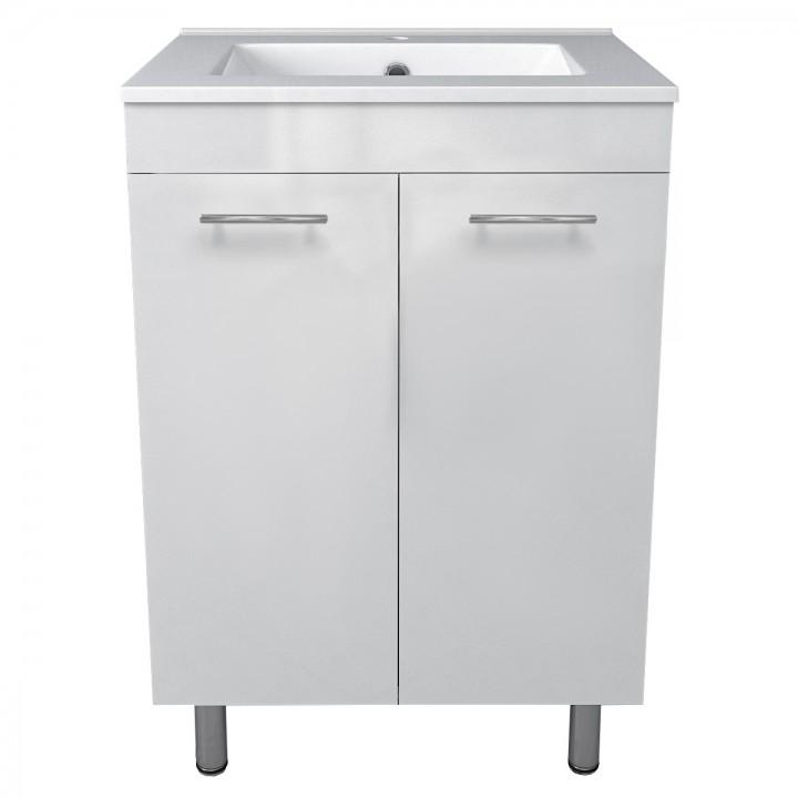 Volle MARO 15-52-61 комплект мебели 60см белый: тумба напольная + умывальник накладной