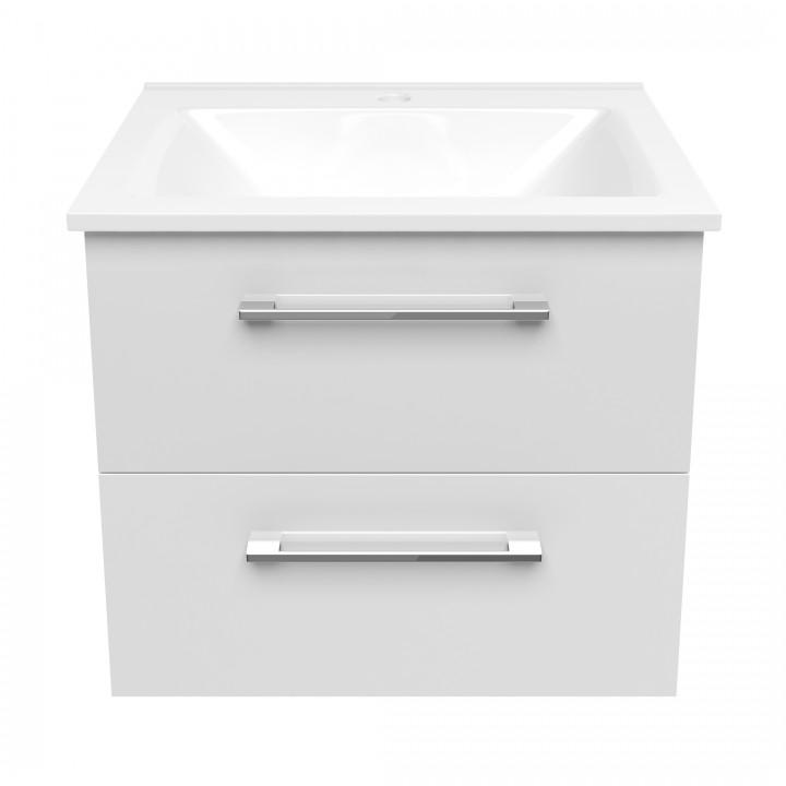 Volle NEMO 15-17-60 комплект мебели 60см белый: тумба подвесная + умывальник накладной