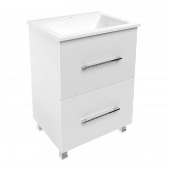 Volle NEMO 15-17-61 комплект мебели 60см белый: тумба напольная + умывальник накладной