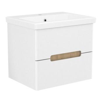 Volle PUERTA 15-16-60 комплект мебели 60 см белый: тумба подвесная + умывальник накладной