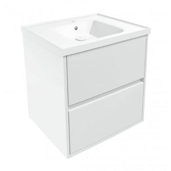 Volle TEO 15-88-61 комплект мебели 65 см белый: тумба подвесная + умывальник накладной