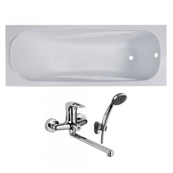 Ванна акриловая Volle FIESTA 1500X700X435мм без ножек TS-1570435 + RBZ100-9B