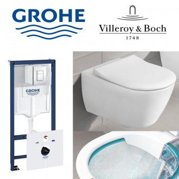 GROHE Инсталляция RAPID SL 38772001+унитаз Villeroy&Boch Subway 2.0 5614R201
