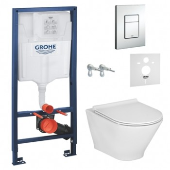 GROHE Инсталляция RAPID SL 38772001+ GAP ROUND Rimless A34H0N8000