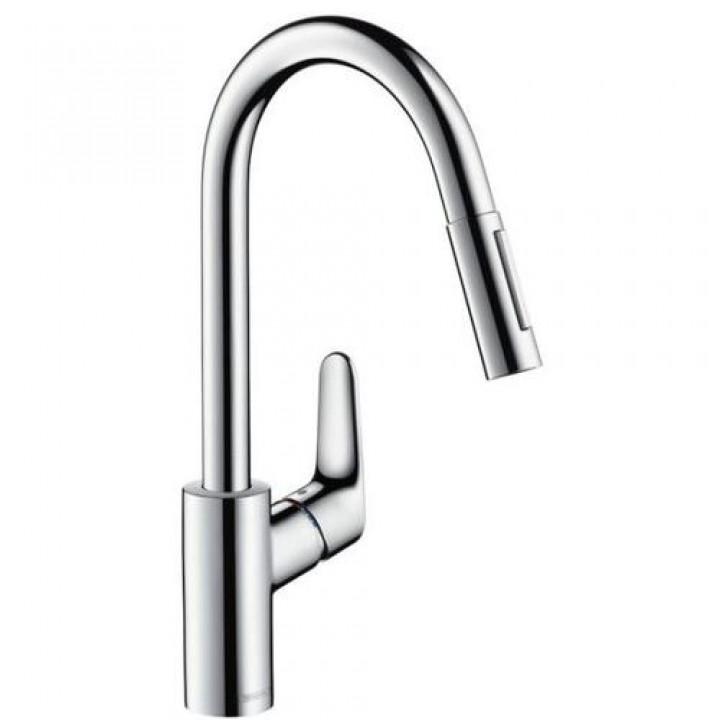 Hansgrohe Смеситель для кухни с выдвижным душем Hansgrohe Focus 31815800
