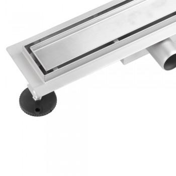 Линейный трап Epelli Piastrella PST1000 ( L=1000мм  2в1 под плитку/сплошная сталь)