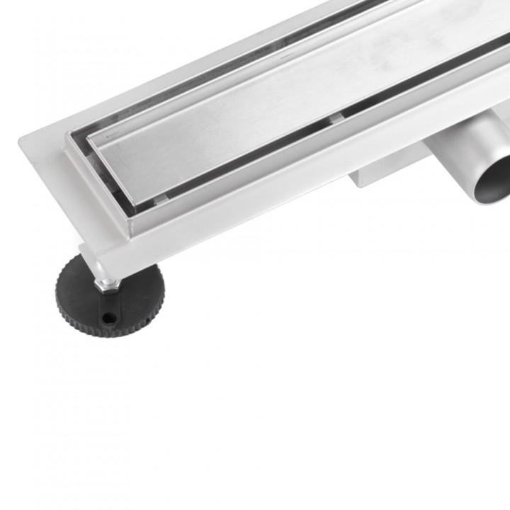 Линейный трап Epelli Piastrella PST500 ( L=500мм  2в1 под плитку/сплошная сталь)