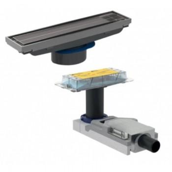 Трап Geberit Cleanline пол от 65 мм, для облицовки плиткой (154.152.00.1+154.455.00.1)