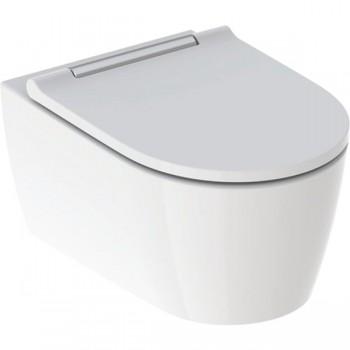 Унитаз подвесной Geberit ONE TurboFlush с сиденьем soft-close, белая декоративная панель, KeraTect/белый, 500.201.01.1
