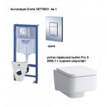 GROHE Комплект инсталляция RAPID SL 38772001 4в1+унитаз LAUFEN Pro S