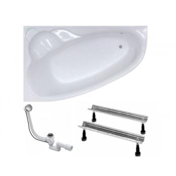 Акриловая Ванна Koller Pool Nadine 150х100 (L/R) + ножки WBW0001 + сифон A55К