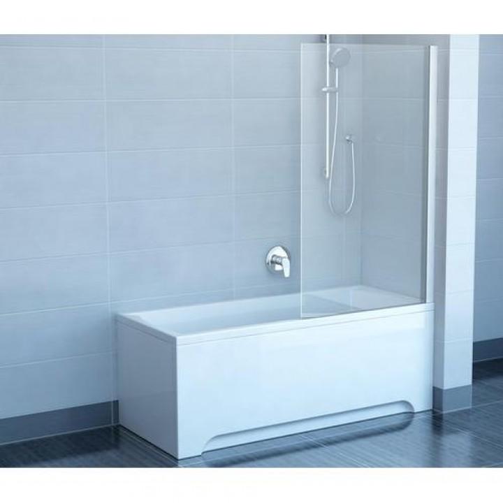 Шторы для ванны Ravak CVS1 - 80 R TRANSPARENT профиль полированный алюминий