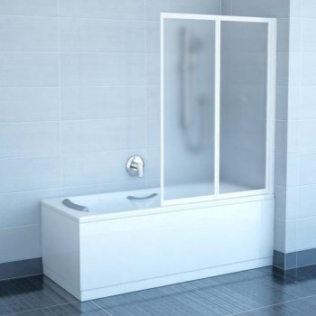 Шторы для ванны Ravak VS2 - 105 TRANSPARENT белый профиль