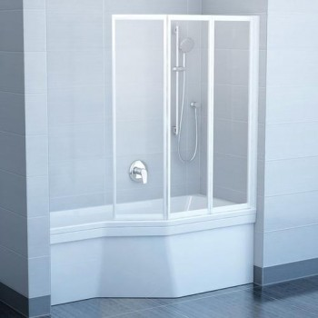 Шторы для ванны Ravak VS3 - 130 GRAPE белый профиль