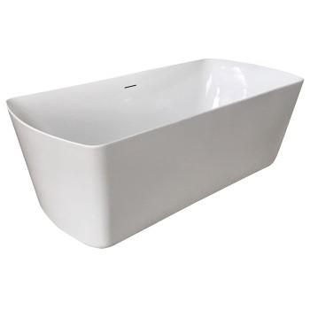 Ванна Volle 180*85*61 см, отдельностоящая, акриловая, с сифоном 12-22-804